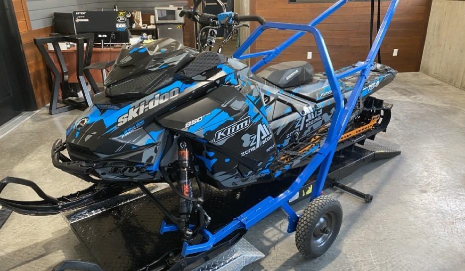 Zone Atomik 13 Chariot Heavy Duty à motoneige - Noir